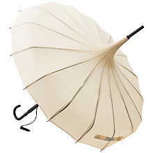 Buy Lisbeth Dahl Pagoda Umbrella, Cream Online at johnlewis.com
