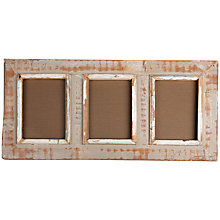 "Buy Dassie Rustic Three Window Picture Frame, Multi, 4 x 6"" Online at johnlewis.com"