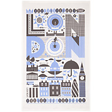 Buy Maria Holmer London Print Tea Towel, Blue Online at johnlewis.com