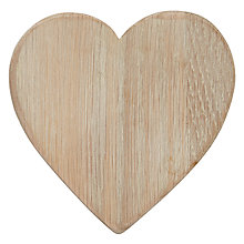 Buy Dassie Weathered Oak Heart Coaster, Multi, Set Of 4 Online at johnlewis.com