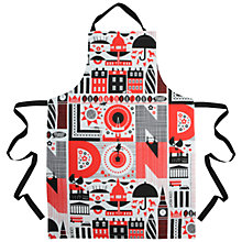 Buy Maria Holmer London Apron, Red Online at johnlewis.com