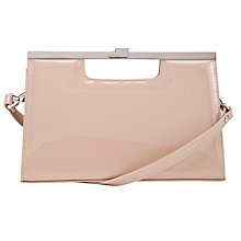 Buy Peter Kaiser Wye Leather Clutch Handbag, Patent Sand Online at johnlewis.com
