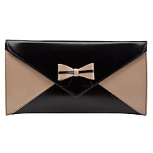 Buy Peter Kaiser Vanessa Leather Clutch Handbag, Black Online at johnlewis.com