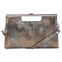 Buy Peter Kaiser Wye Clutch Bag, Leather Snake Online at johnlewis.com