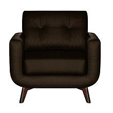 Buy John Lewis Barbican II Leather Armchair with Dark Legs Online at johnlewis.com