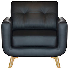 Buy John Lewis Barbican II Leather Armchair with Light Legs Online at johnlewis.com