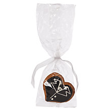 Buy Image on Food Wedding Groom Heart Gingerbread, Pack of 50 Online at johnlewis.com
