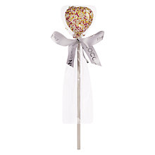 Buy The Cocoabean Company White Chocolate Sprinkle Heart Lolly, 40g Online at johnlewis.com