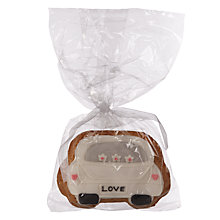 Buy Image on Food Wedding Car Gingerbread Biscuit, 75g Online at johnlewis.com