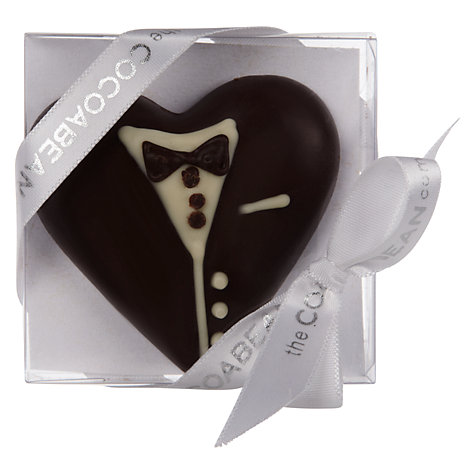 Buy Cocoabean Company Dark Chocolate Groom Slab, 30g Online at johnlewis.com