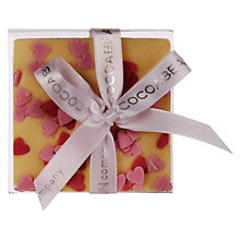 Buy Cocoabean Company Hearts White Chocolate Slab, 60g Online at johnlewis.com