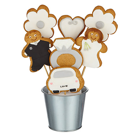 Buy Image on Food Wedding Gingerbread Biscuit Bouquet, 350g Online at johnlewis.com