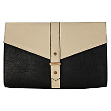 Buy Warehouse Stud Tab Detail Clutch, Black Online at johnlewis.com