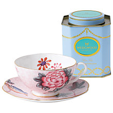 Buy Wedgwood Cuckoo Cup and Saucer Set, Pink + FREE Tea Caddy Online at johnlewis.com