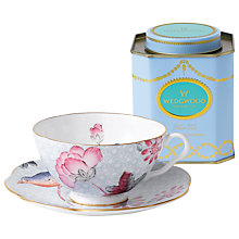 Buy Wedgwood Cuckoo Cup and Saucer Set, Blue + FREE Tea Caddy Online at johnlewis.com