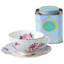 Buy Wedgwood Cuckoo Cup and Saucer Set, Green + FREE Tea Caddy Online at johnlewis.com