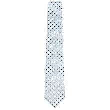 Buy Reiss Dino Woven Dot Print Tie, Soft Blue Online at johnlewis.com