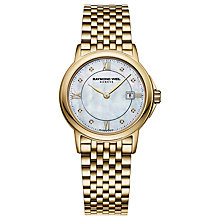 Buy Raymond Weil 5966-P00995 Women's Tradition Gold Plated Diamond Bracelet Watch Online at johnlewis.com