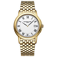Buy Raymond Weil 5466-P00300 Men's Tradition Gold Plated Bracelet Watch Online at johnlewis.com