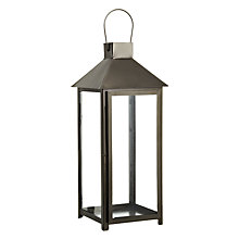 Buy John Lewis Box Lantern, Black, Large Online at johnlewis.com