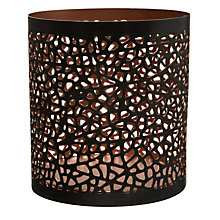 Buy John Lewis Cut-out Tealight, Bronze Online at johnlewis.com