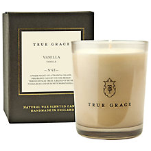 Buy True Grace Manor Vanilla Scented Candle Online at johnlewis.com