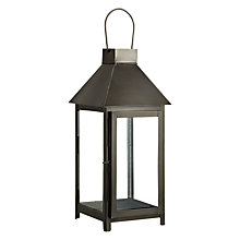 Buy John Lewis Box Lantern, Black, Small Online at johnlewis.com