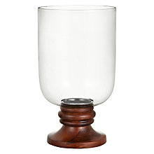 Buy John Lewis Sheesham Hurricane Lamp, Small Online at johnlewis.com