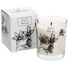 Buy Stoneglow Candle Jar, Ginger And White Lily, White Online at johnlewis.com