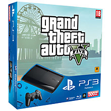 Buy Sony PlayStation 3 Super Slim, 500GB with Grand Theft Auto 5 Online at johnlewis.com