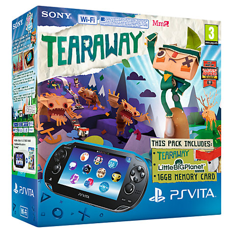 Buy Sony PlayStation Vita Wi-Fi with Tearaway, LittleBigPlanet and 16GB Memory Card Online at johnlewis.com