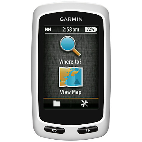Buy Garmin Edge Touring Touchscreen Bike GPS, Black/White Online at johnlewis.com