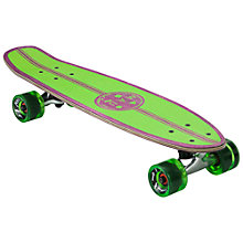 Buy Maui & Sons Micro Kicktail Cruiser Skateboard, Green/Purple Online at johnlewis.com