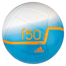 Buy Adidas F50 X-ITE Mini Skills Football, Size 1, Blue/White Online at johnlewis.com