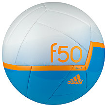 Buy Adidas F50 X-ITE Football, Size 5, Blue/White Online at johnlewis.com