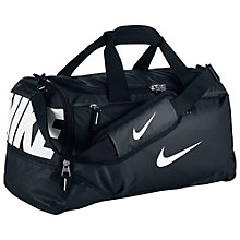 Buy Nike Team Train Graphic Duffel Bag, Black Online at johnlewis.com