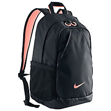 Buy Nike Varsity Backpack, Black/Atomic Pink Online at johnlewis.com