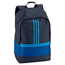 Buy Adidas Versatile 3 Stripes Backpack, Blue Online at johnlewis.com