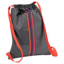 Buy Adidas Essential 3-Stripes Gymbag, Grey/Orange Online at johnlewis.com