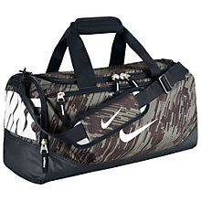 Buy Nike Team Train Graphic Duffel Bag, Black/Mica Online at johnlewis.com