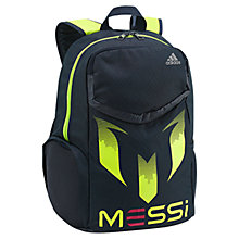 Buy Adidas Youth Messi Backpack, Navy/Green Online at johnlewis.com