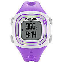 Buy Garmin Forerunner 10 GPS Running Watch, Purple Online at johnlewis.com