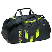 Buy Adidas Messi Team Bag Holdall, Navy/Yellow Online at johnlewis.com