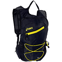 Buy Asics Lightweight Running Backpack, Black/Yellow Online at johnlewis.com
