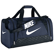 Buy Nike Brasilia 6 Medium Duffle Bag, Navy/Black/White Online at johnlewis.com