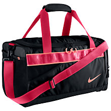 Buy Nike Varsity Duffle Bag, Black/Pink Online at johnlewis.com