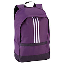 Buy Adidas Versatile 3 Stripes Backpack, Purple Online at johnlewis.com