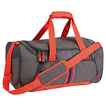 Buy Adidas 3 Stripes Essentials Small Team Bag, Grey/Orange Online at johnlewis.com