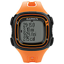 Buy Garmin Forerunner 10 GPS Running Watch, Orange Online at johnlewis.com