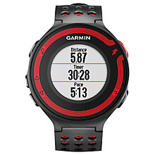 Buy Garmin Forerunner 220 Sports Watch, Black/Red Online at johnlewis.com